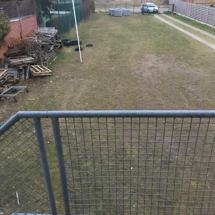 Grasveld vanop balkon